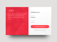 DailyUI 001 — Sign up