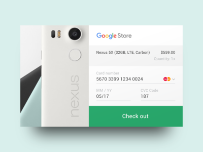 DailyUI 002 — Credit card check out