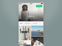 DailyUI 006 — User profile