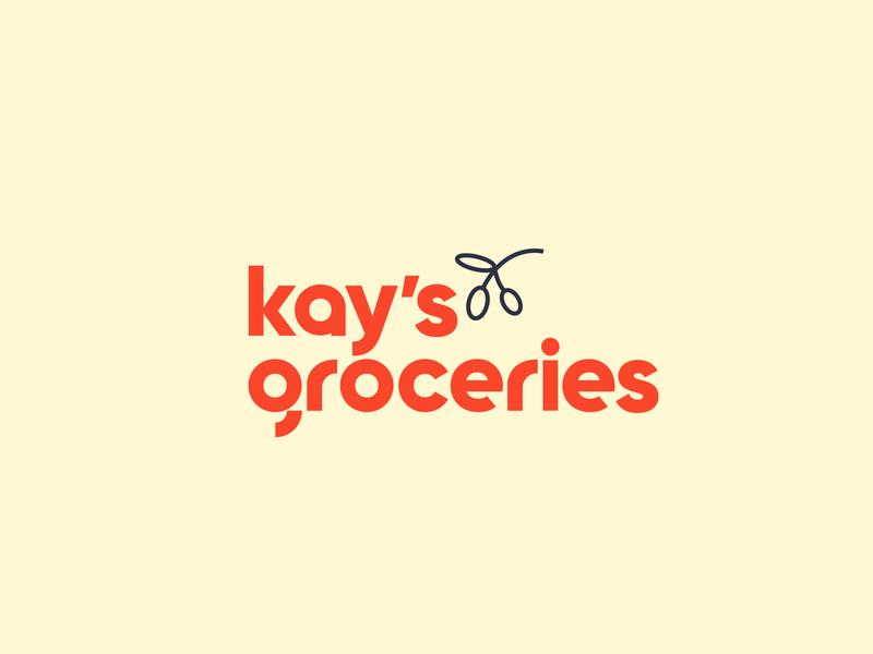 Logo Design - Kay's Groceries website web app grocery grocery store typogaphy modern logo vectors identity branding logotype logo design brand identity vector minimal logo design branding