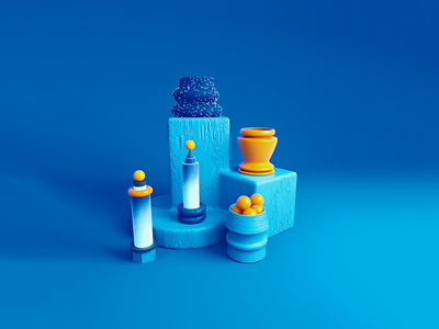 Strange Blue Sculpture