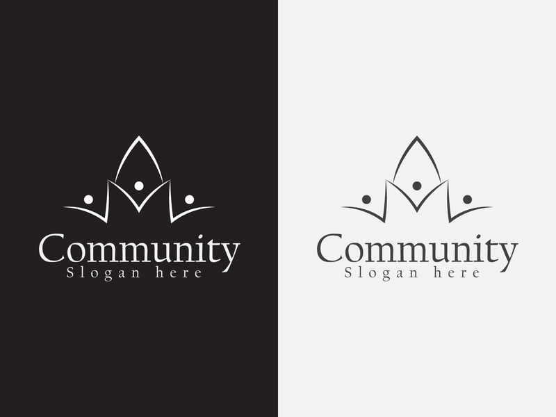 Community logo minimal logos letter flat branding modernlogo logodesign logo lettering design