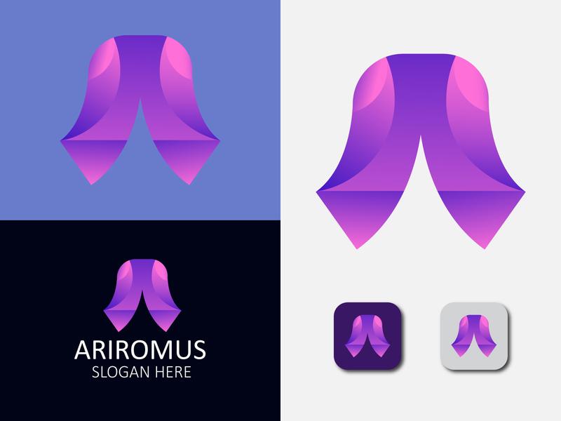 Letter A modern logo design flat simple letter logos lettering branding modernlogo logodesign logo design