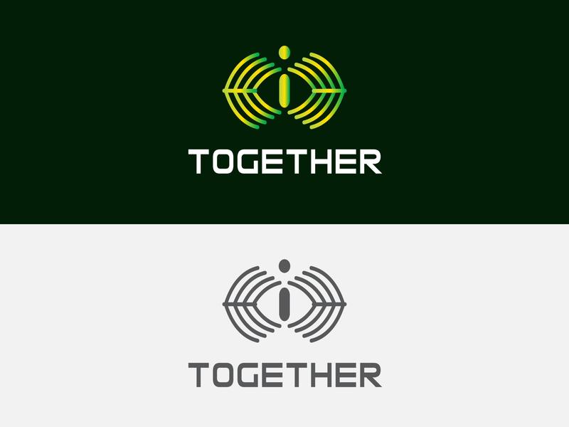 Partnership company logo design flat simple letter logos lettering branding modernlogo logodesign logo design