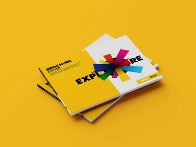 Explore Print Brochure Cover Design product cover brochure booklet illustration print design print yellow branding