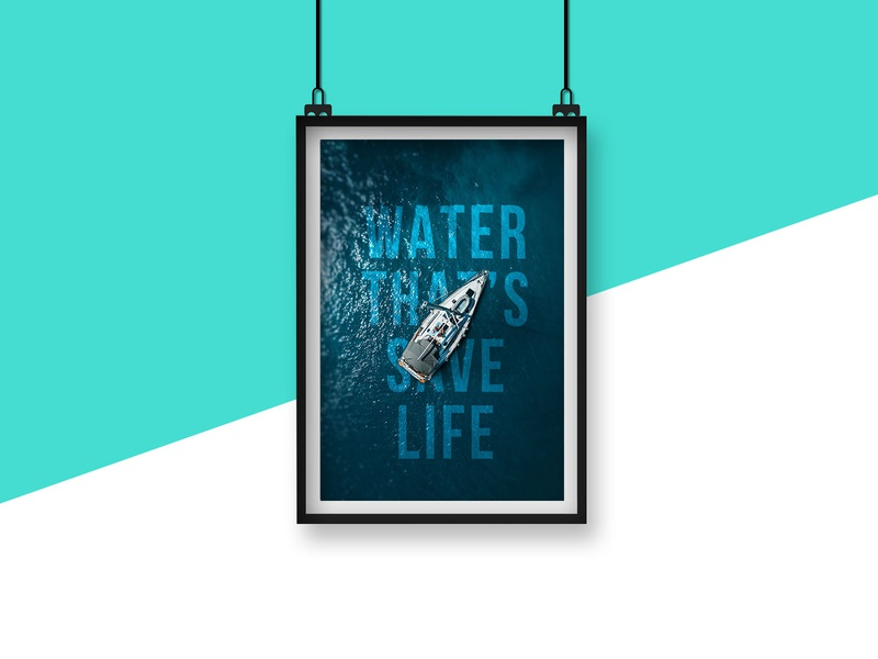 Photoshop Displacement Water Poster Design