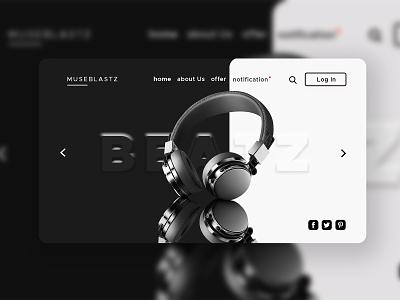E Commerce Landing Page Design products headphone ux tech ecommerce design simple clean interface ui landing page product gadgets ecommerce
