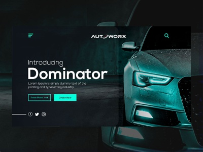 Car Landing Page Layout Design In Adobe Photoshop CC design abstract interaction uxdesigner userinterfaces car landing page userexperience webdesign uidesign ux uxdesign
