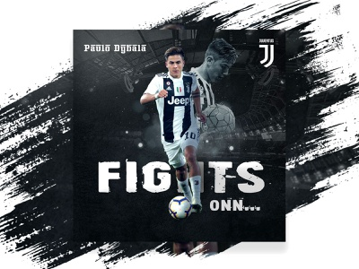 Paulo Dybala Sports Poster Design football sports designer juventas poster sports paulo minimalist typography design abstract