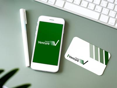 Vanish Venture logo design.