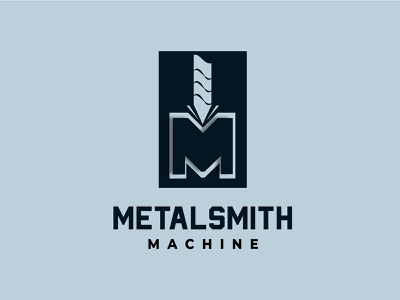 Metal Smith logo design factory industrial industry machine metal minimalist company logo logos logodesign logo vector illustration branding abstract