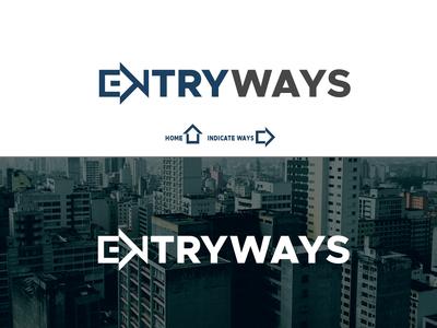 Entryways logo design.