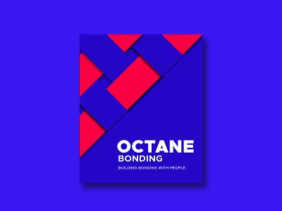 Sharing Octane Bonding Poster Design. poster flyer illustrator goutam graphics adobe posterize graphicart minimalist branding vector illustration abstract