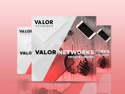 Valor Network Company Social Media Post instagram post socialmedia advertising minimalist technology graphic design digital marketing design branding abstract