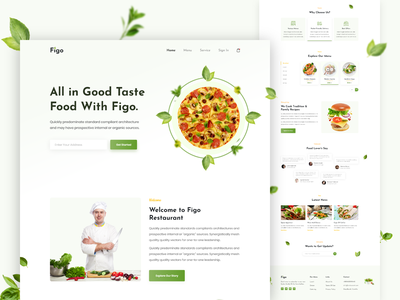 Restaurant Landing Page Designs Themes Templates And Downloadable Graphic Elements On Dribbble