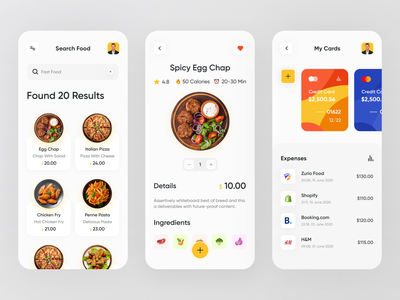 Food Delivery App minimal clean colorful illustration trendy 2020 trend food app app ui popular dribbble best shot app restaurant food delivery food