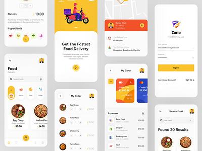 Food Delivery App uidesign app design restaurant ux ui dribbble best shot popup design minimal clean ui 2020 trend illustration delivery app food delivery food mobile app app