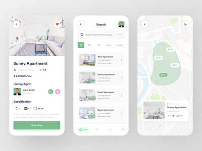 HomePick - Rent Apartment ux ui mobile app design mobile design mobile app mobile realestate popular dribbble best shot property colorful clean booking.com booking app apartments for sale apartments apartment design apartment