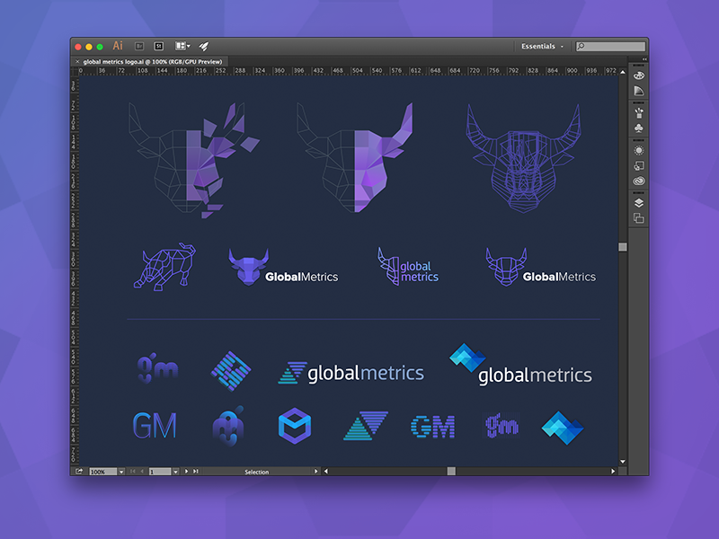 A sample of logo explorations for Global Metrics wallstreet concepts investing trading stock market finance brand logo exploration logo