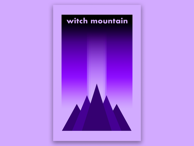 Witch Mountain vector design illustration graphic  design cover art