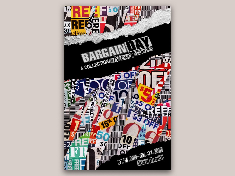 Bargain Day concept art collage art collage design poster art graphic  design