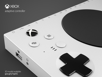 XBOX adaptive controller 3D model adaptive controller model 3d gaming microsoft xbox