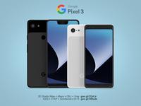 Pixel 3/3XL - 3D CAD model