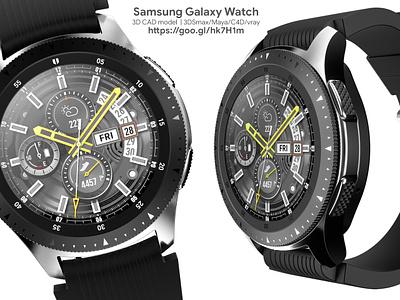 Galaxy Watch 3D model 3ds fbx obj cinema 4d maya vray 3dstudio max modelling 3d 3d model galaxy watch galaxy watch samsung