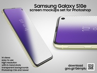 Samsung Galaxy S10e screen mockups set for Photoshop