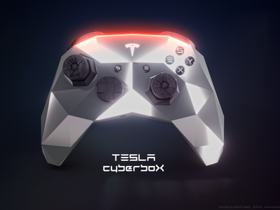 Tesla CyberboX controller concept ps5 ps4 x-box xbox microsoft playstation elon musk hajek design concept console gaming cyberbox cybertruck cyber tesla