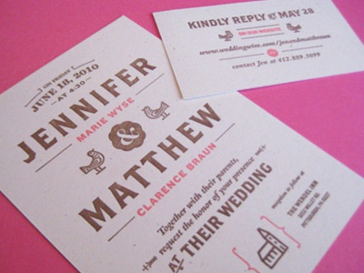 Invites wedding letterpress