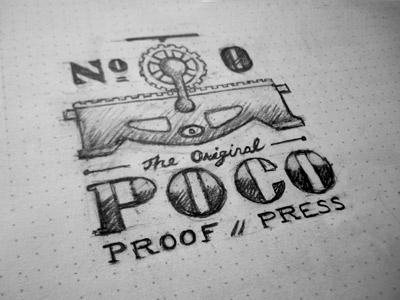 The Original Poco sketch typography letterpress lettering