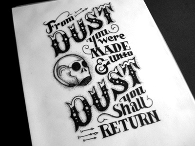 Remember... dust typography lettering