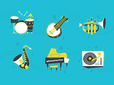 Instrument Icons icons badge illustration