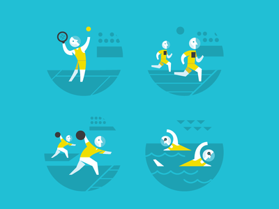 Sports Badges icons illustration badges sports