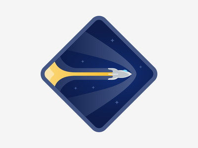 Warp Speed illustration space badges