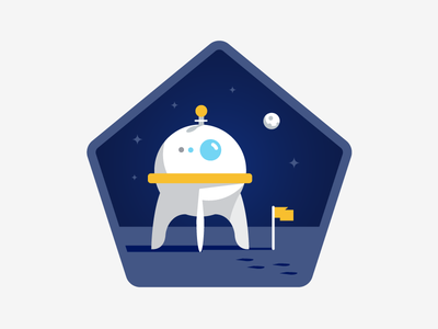 Voyager space icons illustration badges