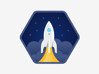 Solo Flight space icons illustration badges