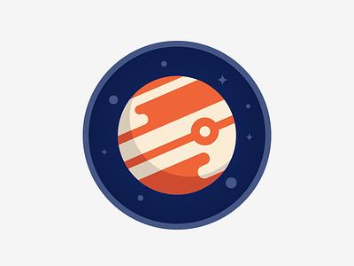 Jupiter icons illustration badges space