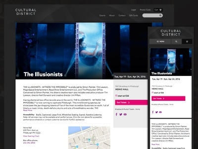Pittsburgh Cultural District Redesign non-profit theater site website