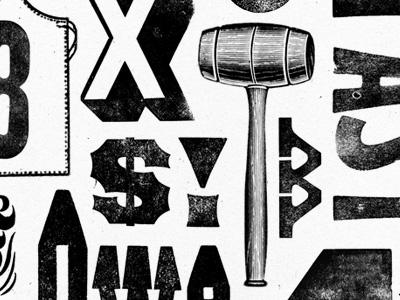 More of something... letterpress bearded