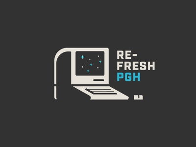 Nothing to see here, just another retro computer illustration design front-end code pittsburgh refresh retro brand computer logo