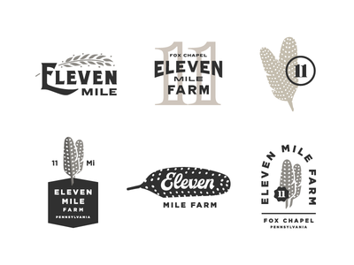 Eleven Mile Options eleven feather concepts logo farm