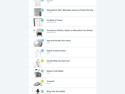 Climate Change List responsive design lists mobile ui climate change web climate
