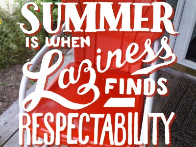 Lazy Summer typography fun lettering