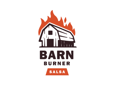 Barn Burner Salsa reject illustration mark logo barn