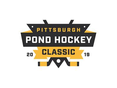 Pittsburgh Pond Hockey Classic logo illustration