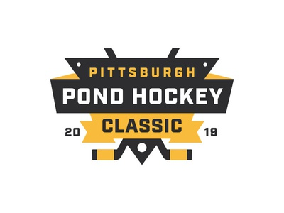 Pittsburgh Pond Hockey Classic logo illustration