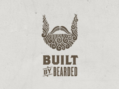 Built by Bearded logo brand typography beard bearded