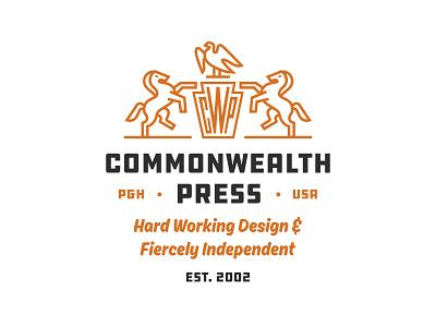 Commonwealth Press logo illustration